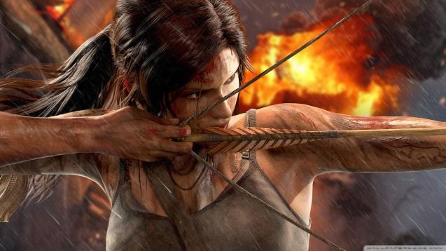 Tomb Raider - Lara Croft Bow HD Wallpaper