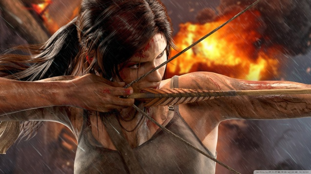 Tomb Raider - Lara Croft Bow HD Wallpaper
