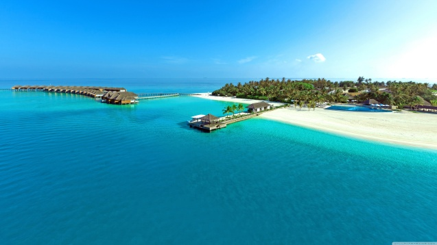 Tropical Island Paradise HD Wallpaper
