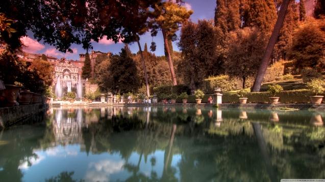 Italy: Villa dEste HD Wallpaper